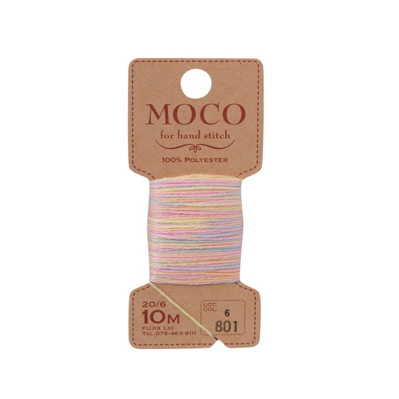 MOCO Variegated Color Hand Stitching Thread 100% Polyester 20/6