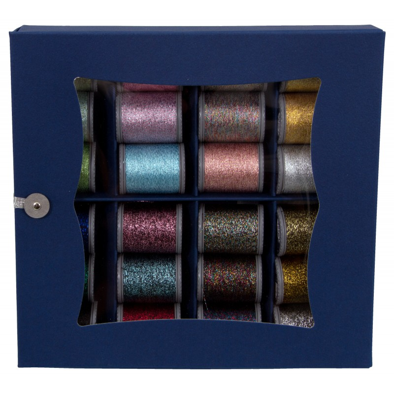 Sparkle Lame Paper Box Set  100% Polyester 400dtex 150mx24 Spulen