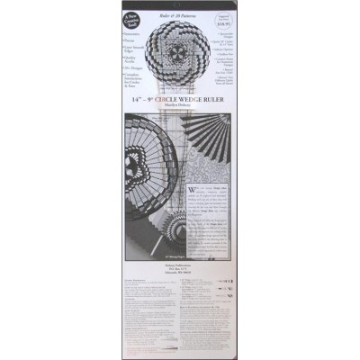"14"" - 9 Degree Circle Wedge Ruler with instructions and 20 patterns"