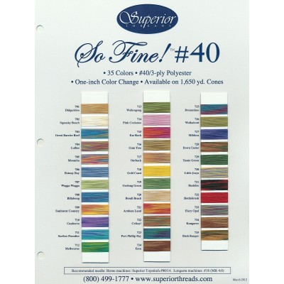 Color Chart So Fine! No.40