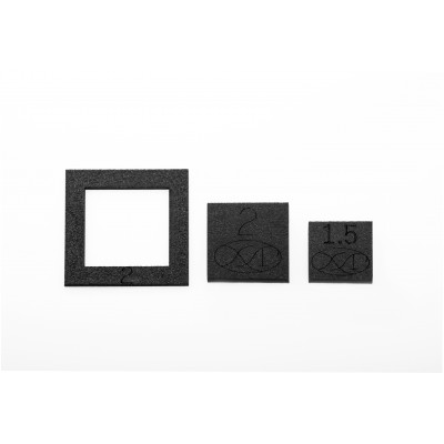 "3pc Mini Block Set (3pcs Mini Square Set / 1,5"", 2"" Templates, 2"" Fussy-Cut-Window)"